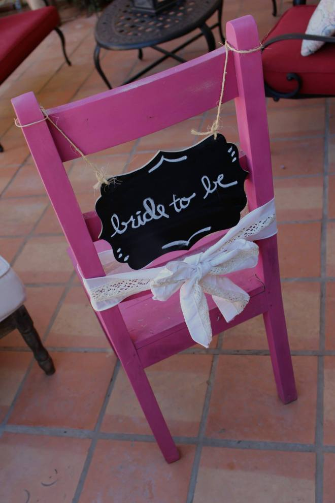 bridal shower, chair