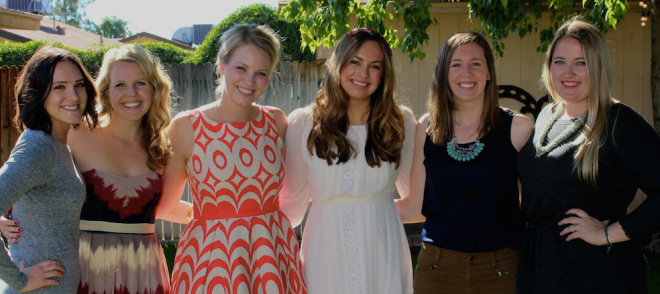 bridal shower, group crop
